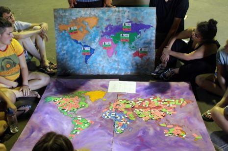 SoBi- Jugend-Begegnung am Rand der Weltkarte